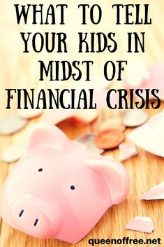 Should you tell your kids you are in debt? That you lost your job? Or that you can't pay the bills? How to communicate effectively with your children about crisis.