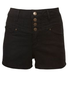 Black high waisted denim shorts - from New Look - £16.99