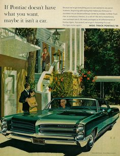 1965 Illustrated Car Ad, GM Pontiac Bonneville | Flickr - Photo Sharing!