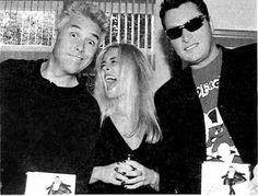 Anouk met George Kooijmans en Barry hay van de Golden Earring.