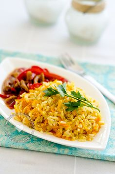 Arroz Amarillo con Zanahoria y Cebolla