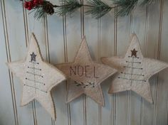 Handmade Primitive Farmhouse Country Star Ornament Peg Hanger