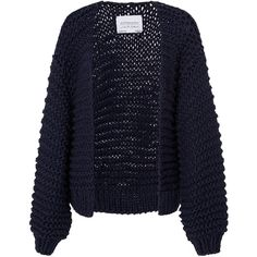 I Love Mr. Mittens Ribbed Cotton Cardigan (1.567.660 COP) ❤ liked on Polyvore featuring tops, cardigans, outerwear, jackets, sweaters, navy, navy blue cardigans, cardigan top, open front tops and blue cardigan