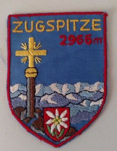 ZUGSPITZE 2966 Germany Mountain Patch Sew On Travel Souvenir Collectible  #Unbranded