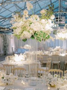 A Romantic Greenhouse Wedding That Brings The Outdoors Inside Destination Wedding Inspiration, Wedding Ideas, Tall Wedding Centerpieces, Greenhouse Wedding, Lush, Bloom, Romantic, Table Decorations, Floral