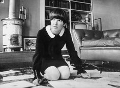 Mary Quant at work in the 60s
