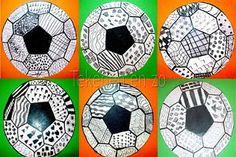 Tekenen en zo: De mooiste voetbal!, knutselen, basisschool, voetbal, wereldkampioenschap