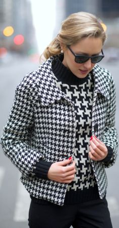 Houndstooth + Houndstooth = Love it!