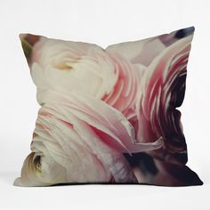 Chelsea Victoria Ranunculus Pop Throw Pillow | DENY Designs Home Accessories