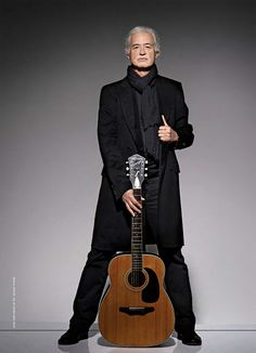 Jimmy Page photographed by Ross Halfin for Guitar Wold (July, 2014)