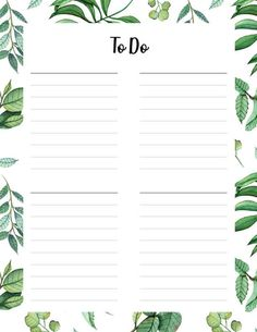 To Do Lists Printable, Printable Planner Stickers, Free Printables, Organisation Planner, Organizing Paperwork, List Template, Planner Template, 3 5 Year Old Activities, Bullet Journal Ideas Pages