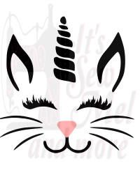 easter unicorn svg dxf and png files by ItsSewMel on Etsy
