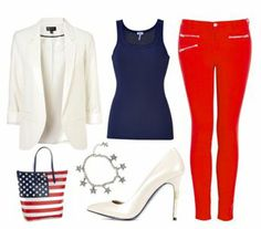 4th of July Outfits except for purse and shoes