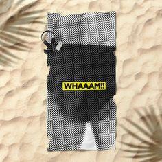 Ouch News #2 (By Salomon) #towel #beach #apparel #fashion #urban #style #streetstyle #tropical #holydays #pattern #mosaic #mosaico #beach #espana #photo #funny #sexy #sex #kiss #universe #retro #hot #provocative #society6 @society6