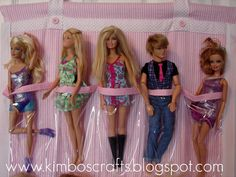 barbie organizer - A girl and a glue gun