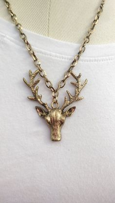 Hey y'all, I make jewelry and this is my latest creation!! Get yours at my Etsy shop at https://www.etsy.com/listing/190291908/simple-buck-charm-necklace-on-a-brass