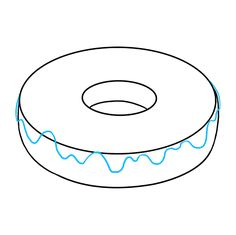 Learn to draw a tasty donut. This step-by-step tutorial makes it easy. Kids and beginners alike can now draw a great looking dougnut. Snoopy Drawing, Donut Drawing, Learn To Draw, Easy Drawings, Donuts, Alphabet, Art, Learn Drawing, Frost Donuts