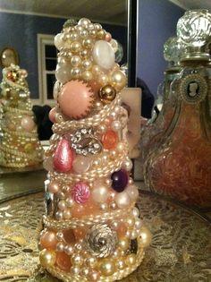 Handmade Vintage Jewelry Tree~~ Pretty