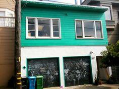chalkboard garage doors