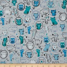 Designed by Studio RK for Robert Kaufman, this cotton print fabric is perfect for quilting, craft projects, apparel and home decor accents. Colors include black, white, shades of blue, and shades of grey.
