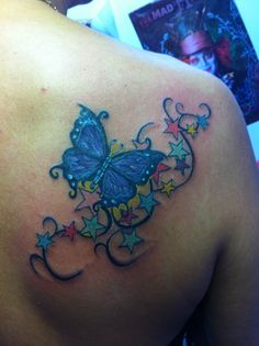 I added stars to my butterfly tattoo