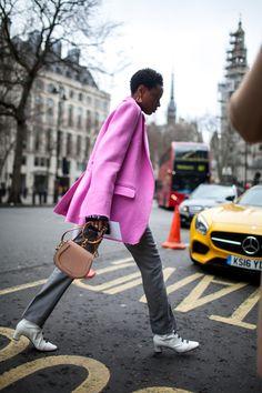 Street style at London Fashion Week fall 2017.