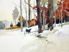 """""""Edge of the Woods """" watercolor by Bill Vrscak"""
