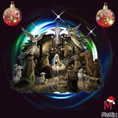 GIF Nacimiento from Citla Christmas Jesus, Christmas Nativity Scene, Childrens Christmas, Christmas Art, Winter Christmas, Christmas Decorations, Christmas Ornaments, Merry Christmas Hd Images, Merry Christmas And Happy New Year