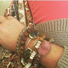 #potd #stacksonstacksonstacks #bracelets #stacks #accessories #potd #ootd #naturalstones #love #fabulina