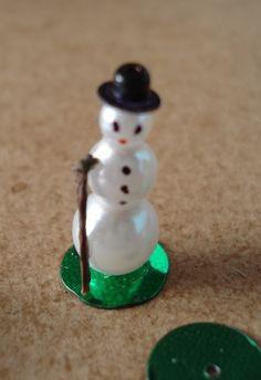 Miniature Christmas snowman ~ how-to do them for homemade XMAS decorations.  To do list