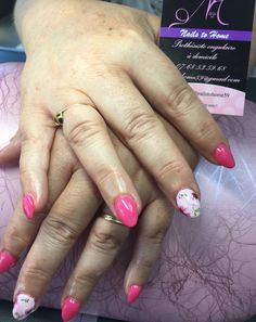 One Stroke Nail Art, Deco Floral, Nails, Beauty, Rose, Ongles, Finger Nails, Pink, Roses