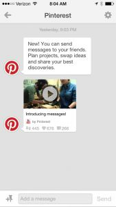 PINTEREST UPDATE! INTRODUCING PINTEREST MESSAGES ~ includes ideas for how Pinners, B2Cs, and B2Bs can use Pinterest Messages