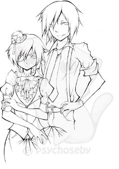 Black Butler Anime Coloring Pages