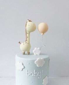 Baby Shower Cake Likes, 10 Comments - hello naomi specialty cakes ( on In. Amazing Baby Shower Cakes, Baby Shower Cakes For Boys, Baby Boy Cakes, Cake For Baby, Babyshower Cake Boy, Giraffe Cakes, Safari Cakes, Giraffe Party, Deco Baby Shower