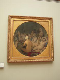 Ingres' The Turkish Bath at The Louvre, Paris Louvre, Turkish Bath, Museum, Romanticism, Paris, Renaissance, Mona Lisa, Frame, Artwork