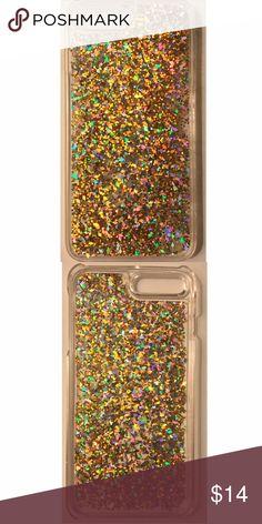 NWT Rose Gold Dynamic Glitter iPhone 7 Plus Case NWT Rose Gold Dynamic Diamond Liquid Glitter Quicksand Hard iPhone 7 Plus Case Accessories Phone Cases
