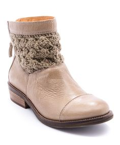 Love this Mushroom Carly Leather Boot on #zulily! #zulilyfinds