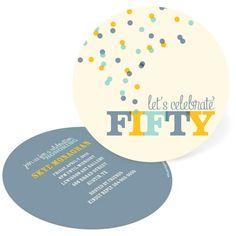 50th Birthday Invitations -- Celebrate Fifty