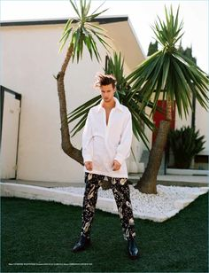 Appearing on the cover of Seventh Man, Cameron Dallas goes shirtless except for a sequined Dolce & Gabbana tuxedo jacket. The social influencer embraces playful looks as he caters to the fashion world with a charming photo shoot. Transitioning from tailored suiting to personality-driven casualwear, Cameron tackles a wide array of brands. Some of the...[Read More]