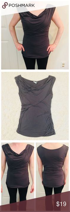 Gray H&M Top Worn, but in great shape! 100% viscose. Very comfortable! H&M Tops Tank Tops