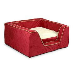 Luxury Square Pet Bed With Memory Foam  MediumAll Pink ** You can find out more details at the link of the image. (This is an affiliate link)