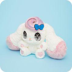 "Yurie Sekiya's ""Pero-pero Sparkles"" plush made by Azusa Hirakuri  http://hanamizz.fashionstore.jp/"