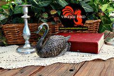 Vintage Silver Plated Swan Letter or Napkin by JunkRedemption