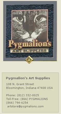 Pygmalions Art Supplies: skip the big box stores and get your art supplies here.  They have cats.