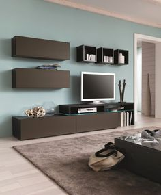 Amsterdam Combination-11338 Modern Wall Unit by Creative Furniture