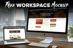 Free Workspace Mock-up