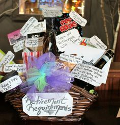 Retirement requirements basket