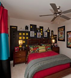 Marvel Themed Room Magnificent Marvel Comics Wall Muralit Looks Amazing In The Figure Room Decorating Inspiration