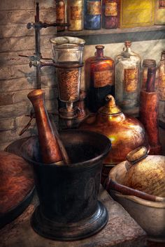 by Mike Savad - Everything you need to make medicine or perhaps beer.