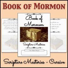 LDS Notebooking: Book of Mormon Scripture Masteries Copywork Notebook - Cursive